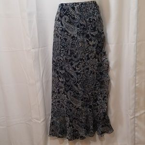 Dana Buchman silk wrap skirt Size 12